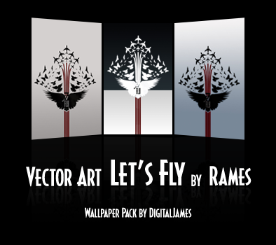Vector Art Let's Fly Series by digitaljames