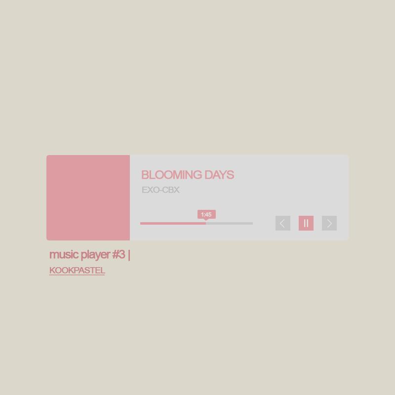 Music Player Template By Kookpastel by seokjingguk on DeviantArt
