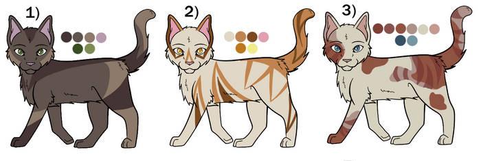 Cat Adoptables 2/3 OPEN