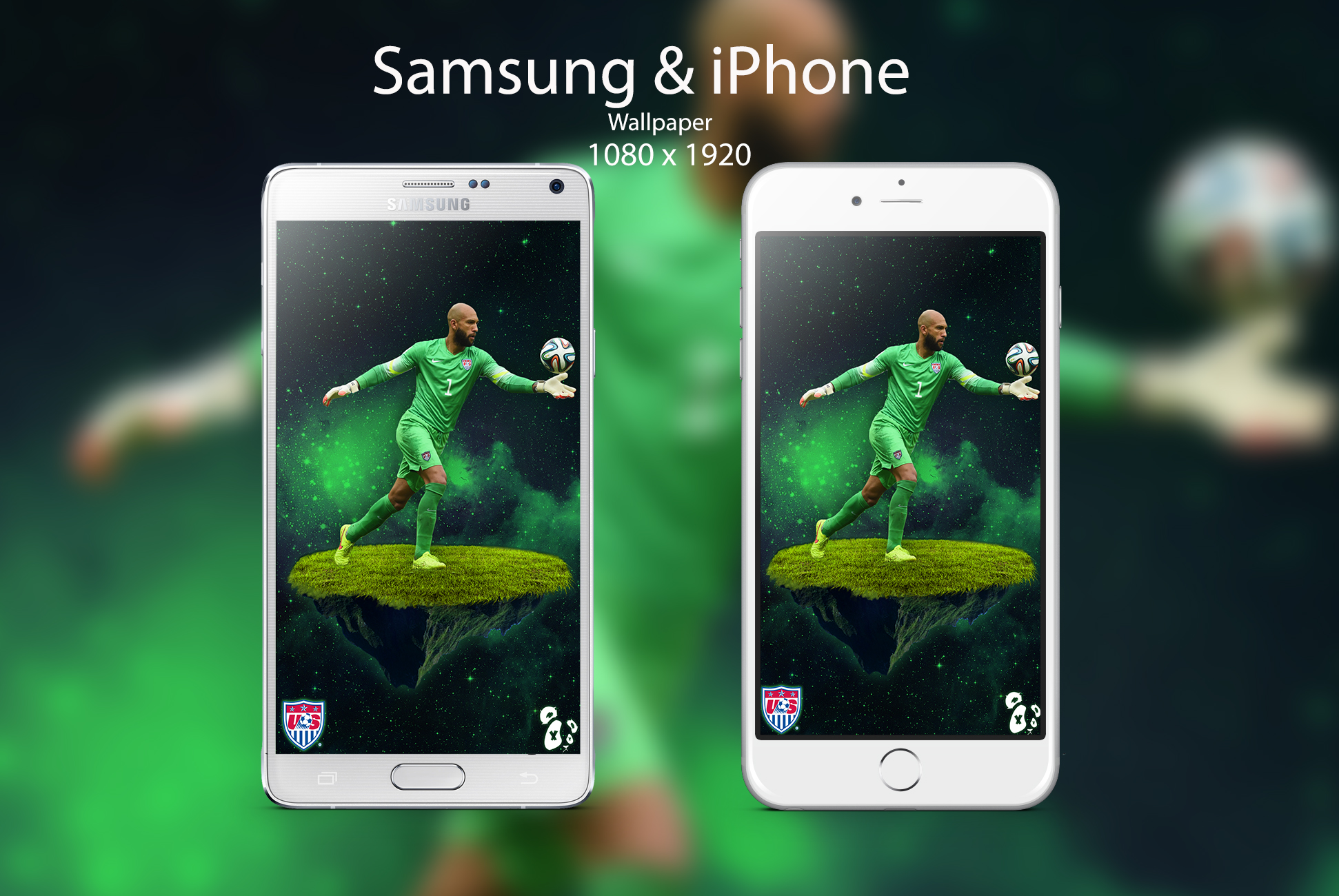 tim howard android and ios wallpaper by edwinartwork