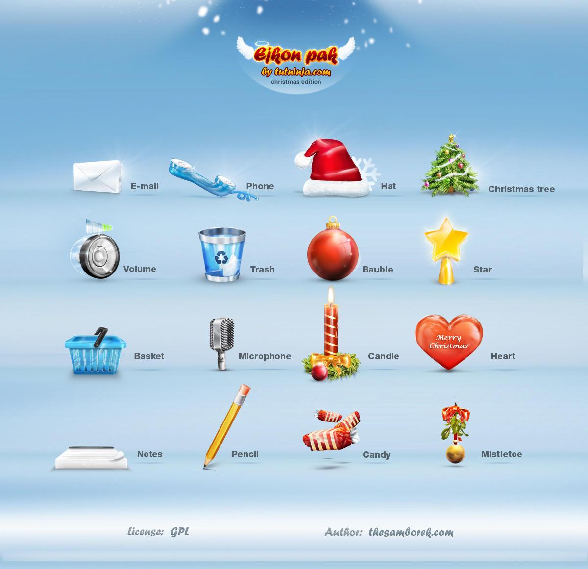 Christmas Icon Set no.1 by samborek