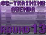 OC-Training Round 13 Agenda by Zakuro-Kona