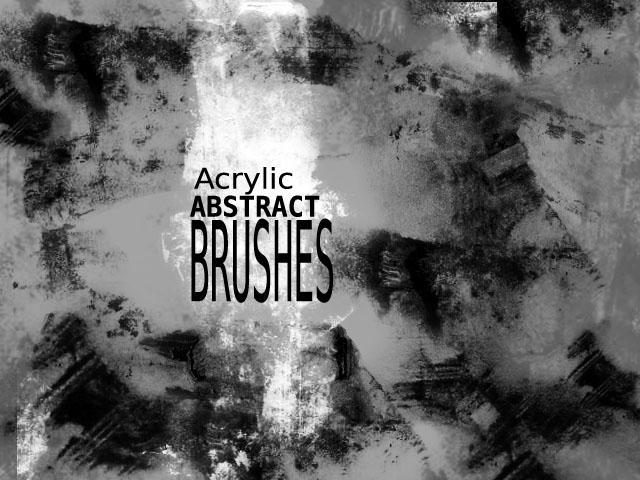 Acrylic_abstract brushes by sanpaiya