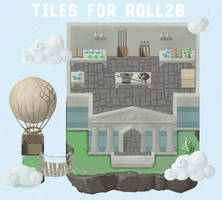 Floating islands tiles for Roll20