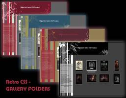 RETRO CSS GALLERY FOLDERS UPDATED Dec 2013 by Elandria