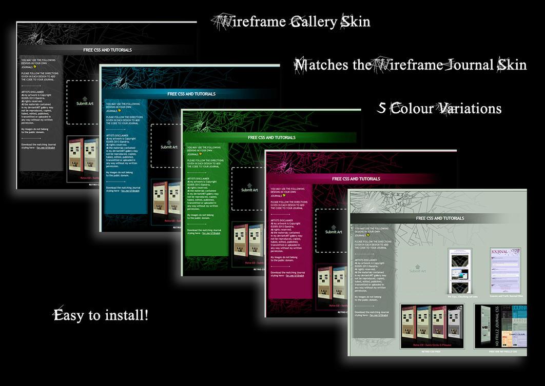 Wireframe Gallery Skin FREE by Elandria