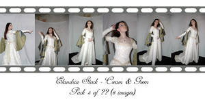 Cream and Green Pack 5 by Elandria