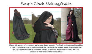 Cloak Making The Elandria Way