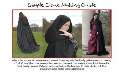 Cloak Making The Elandria Way