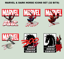 MARVEL and DARK HORSE ICONS SET (32 BITS)