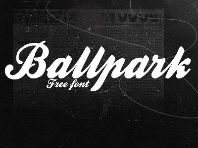 Ballpark free font by sheiisperfect