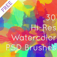 HiRes Watercolor Brushes-RebeccaAllenCreative by rebeccaallencreative