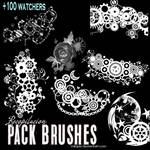 Recopilacion: Pack brushes / pinceles mix