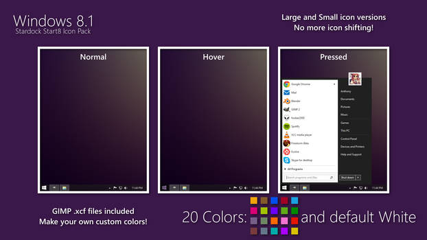 Windows 8 Start Button Pack