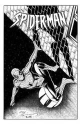 Inkwell Awards Joe Sinnott challenge Spiderman by GothPunkDaddy