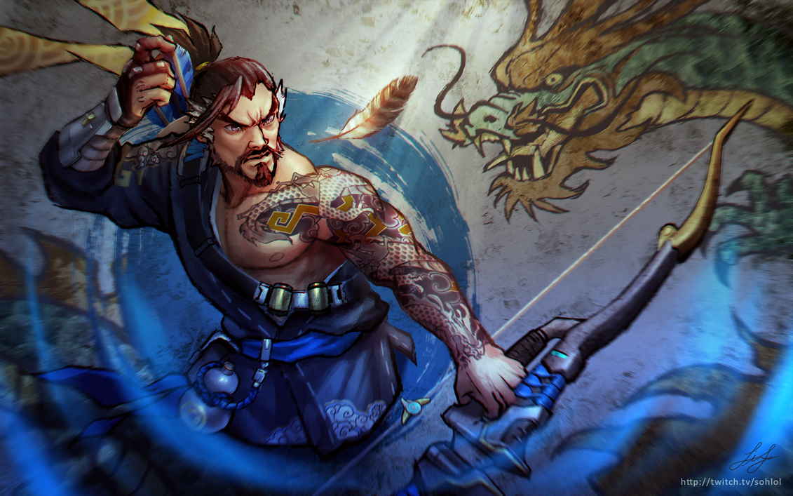 overwatch - hanzo and genji wallpapersohlol on deviantart