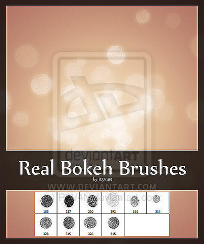 Real Bokeh Brushes by R3V4N