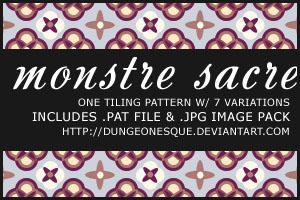 Monstre Sacre Patterns by dungeonesque