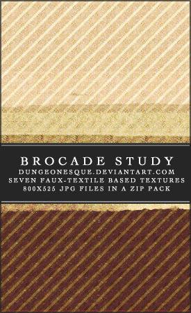 Brocade Study Texture Set by dungeonesque
