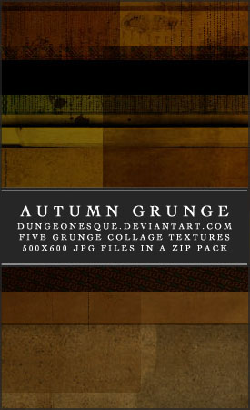 Autumn Grunge Textures Set