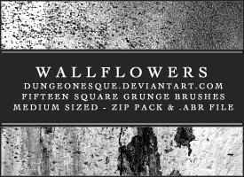 Wallflowers Grunge Brush Set by dungeonesque