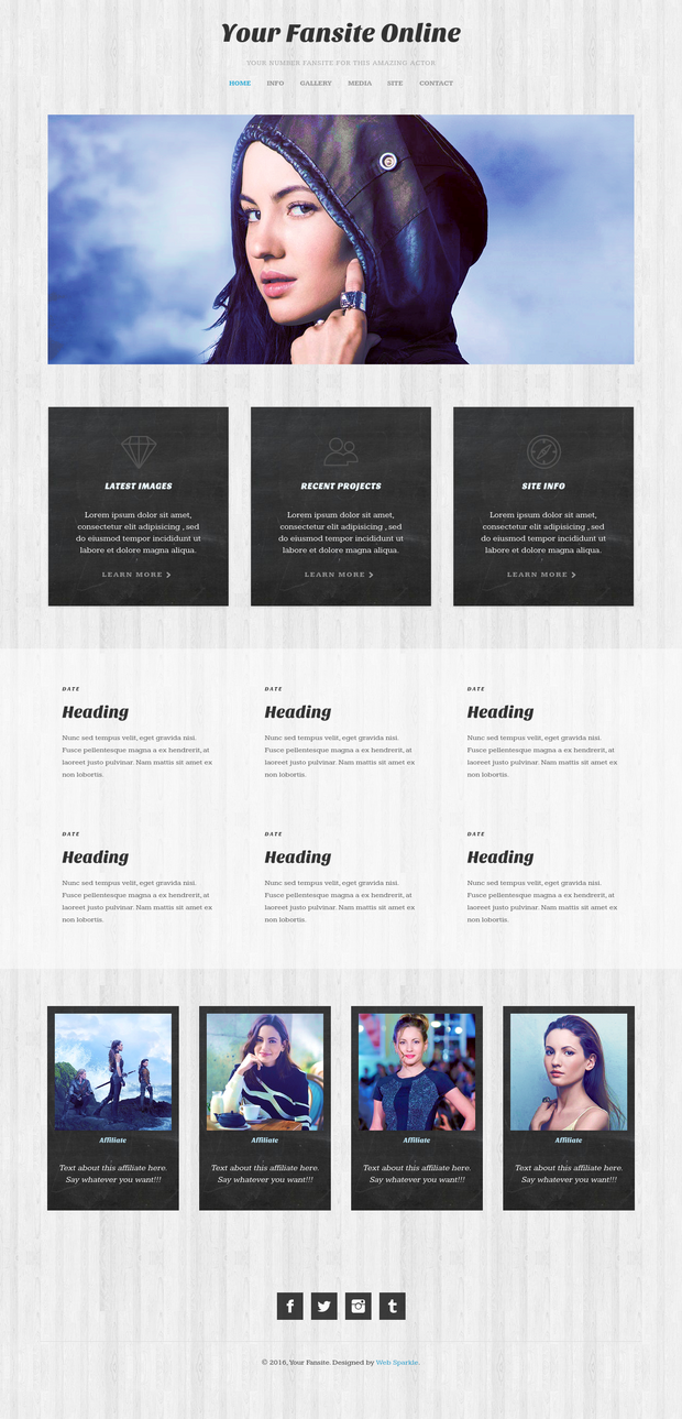Fansite Template 1 by girlgonegrey