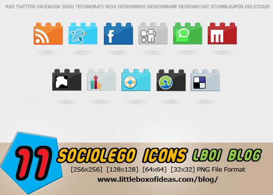 SocioLEGO Lego Social Icon Set