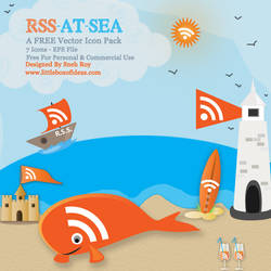 Orange At Sea RSS Vector Icons