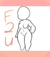F2U CHIBI BASE (FEMALE) by SugahFox