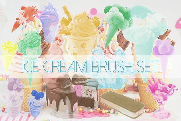 Ice cream Brushes Pack