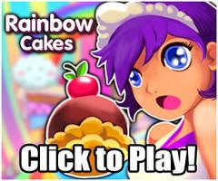Rainbow Cakes by Moogl