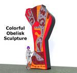 Sculpture, Obelisk, Laqan, V1 (Daz Studio and obj) by luqu