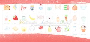 Watercolor patterns PNG by vanceiy