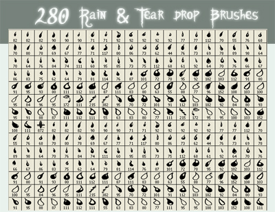 Rain - Tear Drop Brushes by SkeIator