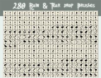 Rain - Tear Drop Brushes by SkeIator