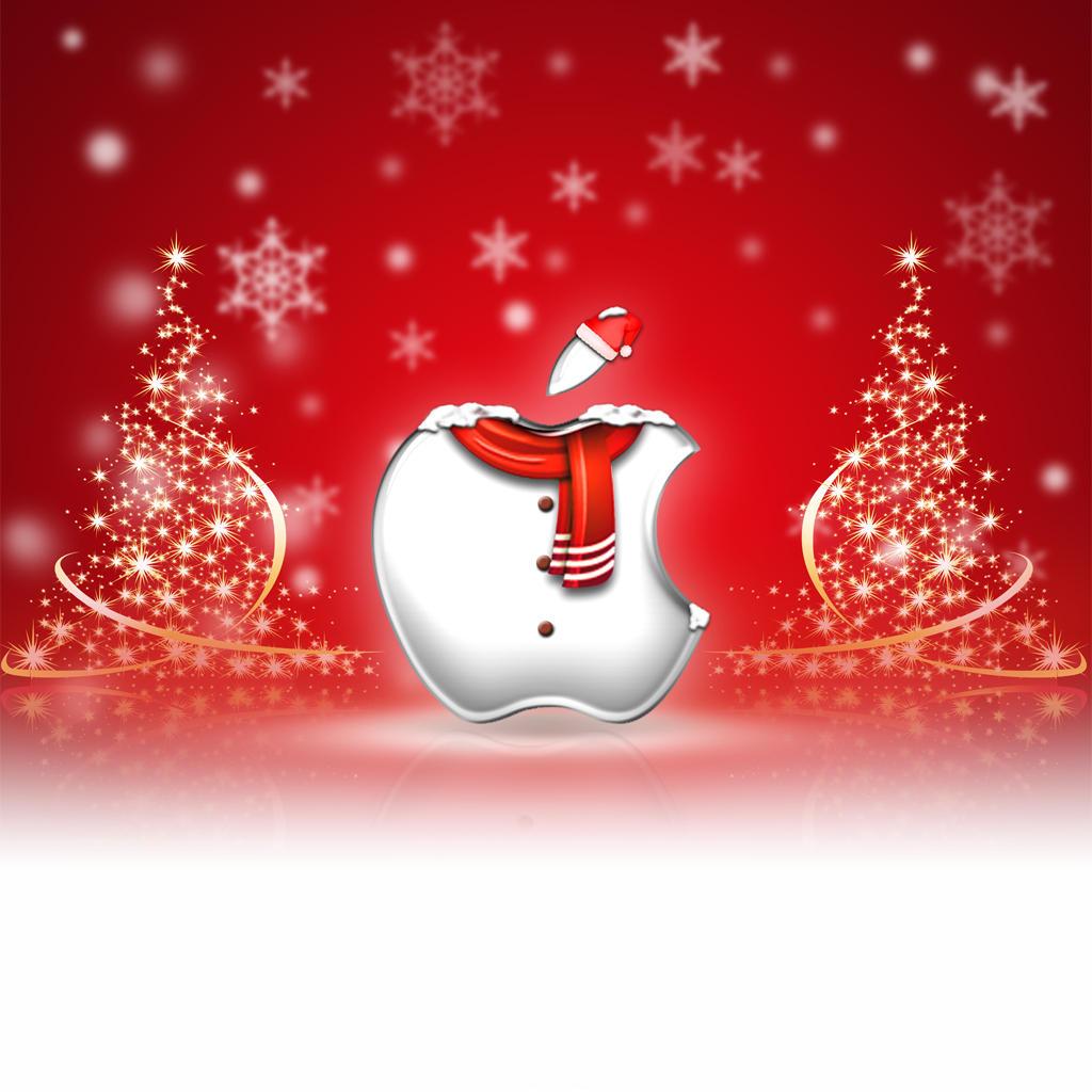 Very cool Apple Christmas wallpaper! Apple Christmas