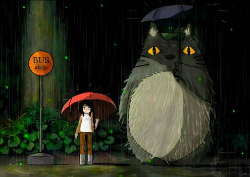 Totoro rain scene-Hetalia