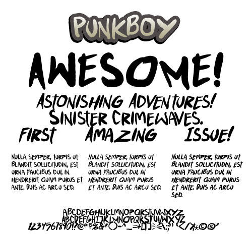 teabeer studios font: Punkboy by andehpinkard
