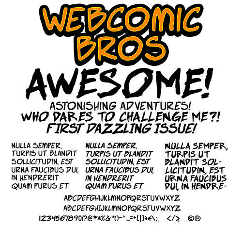 Free Font: Webcomic Bros by andehpinkard