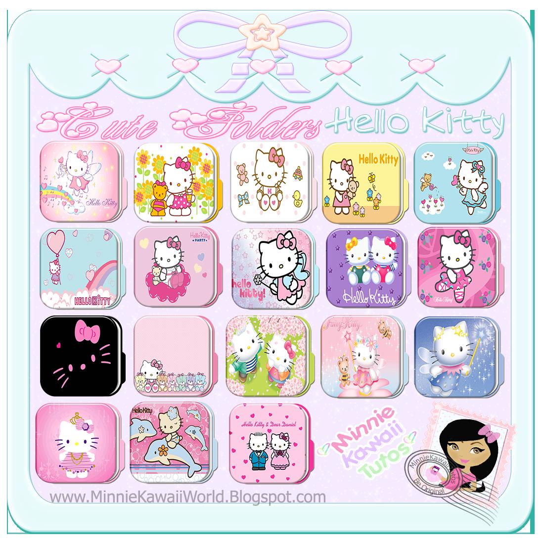 Cute Folders HelloKitty (carpetas) By MinnieKawaiiTutos On