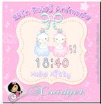 cute hello kitty clock for xwidget (reloj animado)