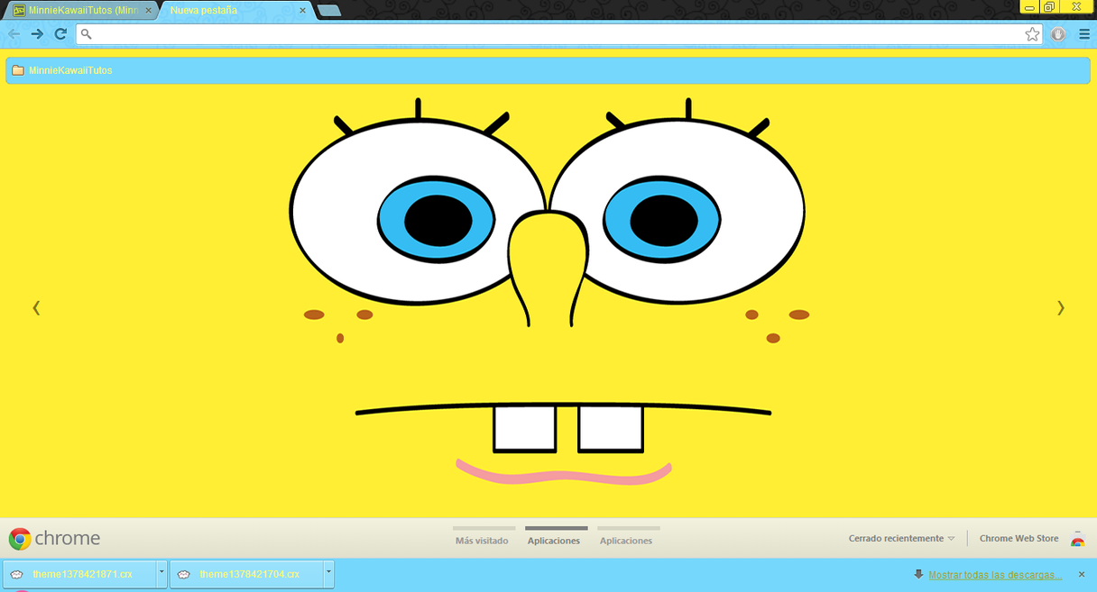 Google themes kawaii - Spongebobtheme Google Chrome By Minniekawaiit By Minniekawaiitutos