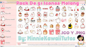 Pack De 51 Iconos Y Pngs Molang