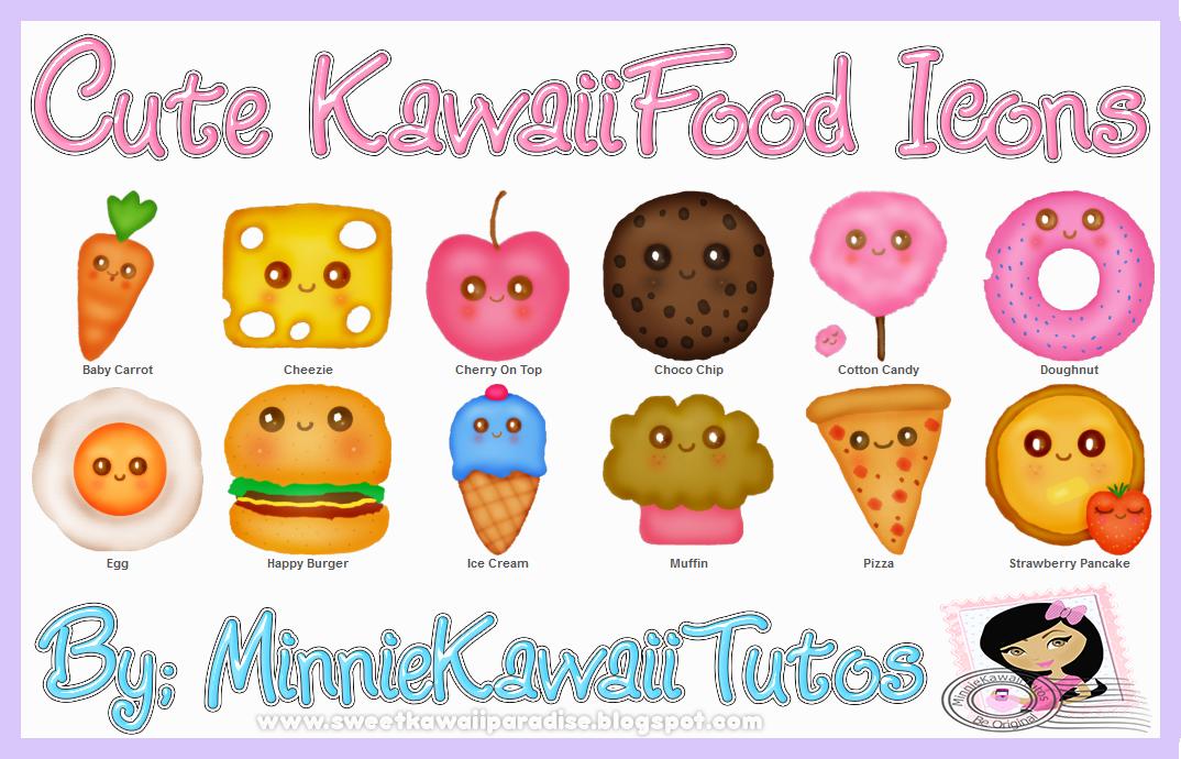 Cute Kawaii Food Iconos Y Pngs By MinnieKawaiiTutos ...