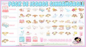 Pack De 54 Iconos Cinnamoroll