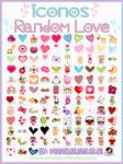 Pack De 113 Iconos Random Love