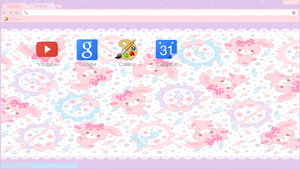Kawaii Bunnie theme google chrome Y torch