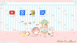 Little Twin Stars Theme Google Chrome Y Torch