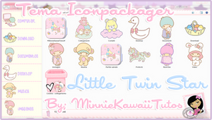 Tema Iconpackager Little Twin Stars