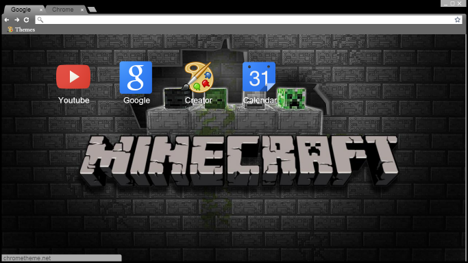 MineCraft Theme Google Chrome Y Torch